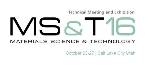 Visit Nanovea At MS&T In Salt Lake City
