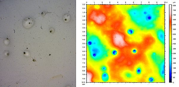 Drywall Texture & Pitting Using 3D Profilometry
