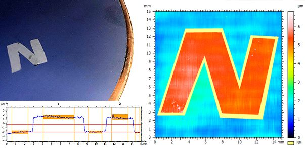 Wafer Coating Thickness Measurement Using 3D Profilometry